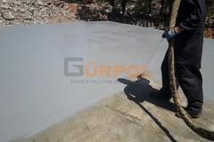 beton alanlarda sprey polyurea kaplama