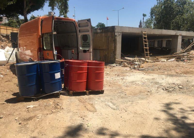 perde beton polyurea su yalıtımı uygulaması